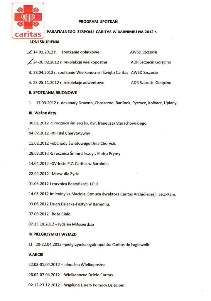 Program Caritas 2012
