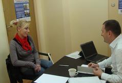 Zajęcia indywidualne i grupowe z doradcą zawodowym i psychologiem.