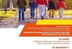 Plakat projektu Aktywna jesień życia w Gminie Gościeradów