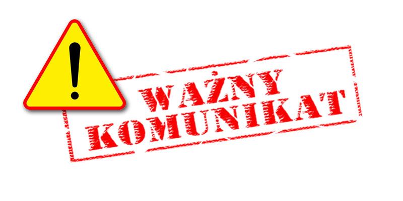 Logo z opisem Uwaga Ważny komunikat (link otworzy duże zdjęcie)