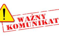 Logo z opisem Uwaga Ważny komunikat
