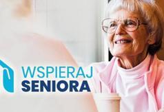 Plakat przedstawiający seniora w ramach programu Wspieraj seniora